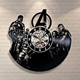 Avengers Movie Art Vinyl Record Clock Wall Decor Home Design