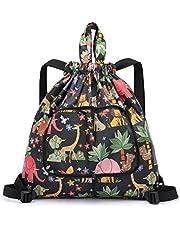 X-BLTU Opvouwbare rugzak met trekkoord voor vrouwen en meisjes, draagbare lichte reistas, outdoor sport yoga camping wandelrugzak
