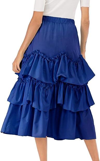 Faldas largas Encaje, Falda de la Torta de Las Mujeres Falda de ...