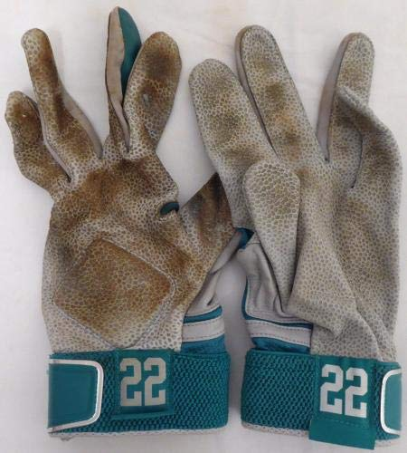 Robinson Cano Autographed Game Used Nike Batting Gloves Signed Cert 138703 MLB Game Used Gloves