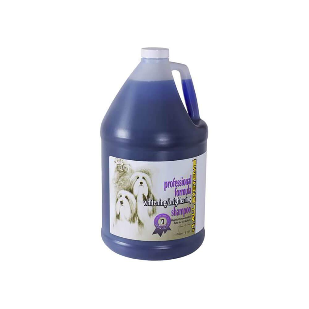 #1 All Systems Professional Formula Whitening Dog and Cat Shampoo, 1-Gallon by #1 All Systems