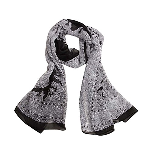 Scarf Shawl HCFKJ Lady Wraps For Evening Dresses Lightweight Quality Blanket Classical Print Stole Scarf 150CMx50CM - Fair Erina Shops