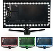 Luminoodle Color Computer Monitor Backlight - 15 Color Bias Lighting with Remote - 3.3 ft for Monitors up to 24