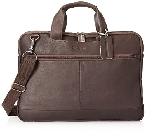 Kenneth Cole Reaction Double-Sided Colombian Top Zip Computer Ipad Tablet Case, Brown, One Size ()
