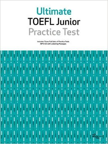 Book ULTIMATE TOEFL JUNIOR PRACTICE TEST (Korean edition)