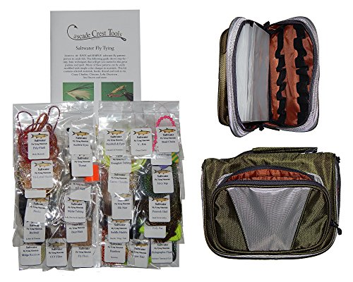 Cascade Saltwater Fly Tying Material Kit with Essentials Tying Materials