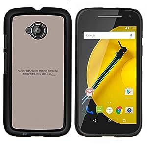 TECHCASE---Cubierta de la caja de protección para la piel dura ** Motorola Moto E ( 2nd Generation ) ** --Cartel de motivación