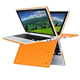 """iPearl mCover Hard Shell Case for 11.6"""" Acer Chromebook R11 CB5-132T / C738T series ( NOT compatible with Acer C720/C730/C740/CB3-111/CB3-131 series ) Convertible Laptop (Orange)"""