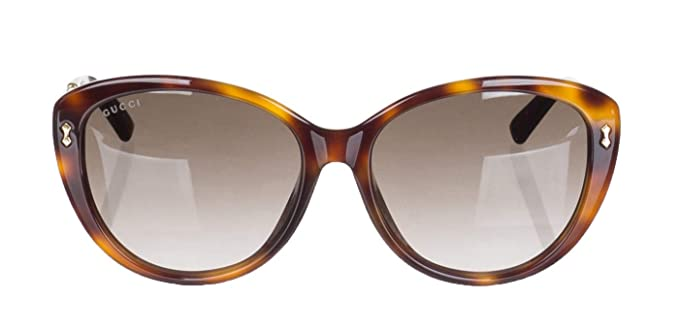 24532bb54bfe1 Image Unavailable. Image not available for. Color  Gucci Women s Dark Havana  GG 3839 F S Brown Lens Sunglasses