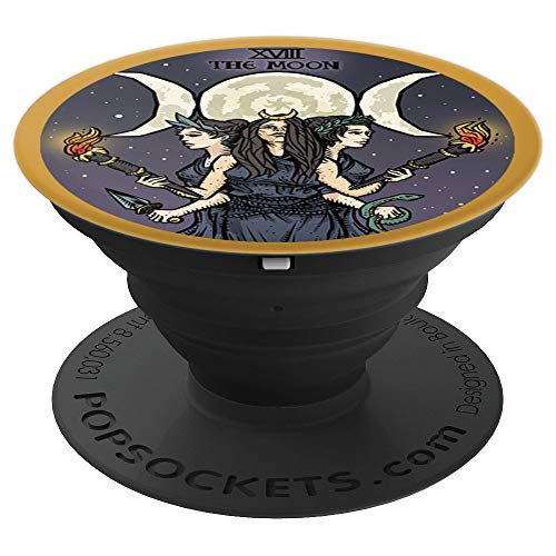 Hecate Triple Moon Goddess Witch Hekate Tarot Card Gift - PopSockets Grip and Stand for Phones and Tablets ()
