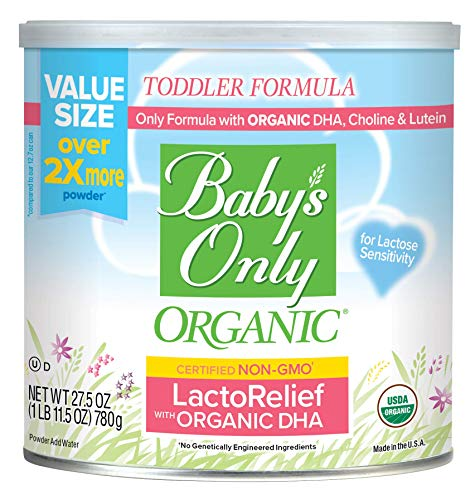 Baby's Only Organic LactoRelief with DHA & ARA Toddler Formula, 27.5 oz Value Size (Pack of 6)