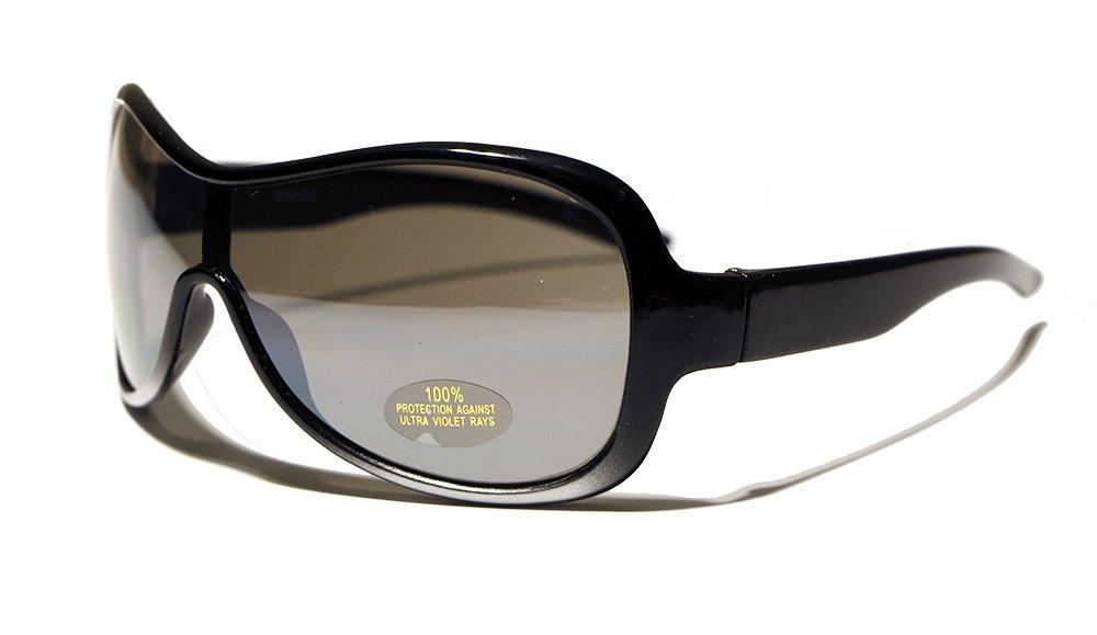 Rocket Ski Sportbrille Sonnenbrille, Unisex Kinder, schwarz, XS
