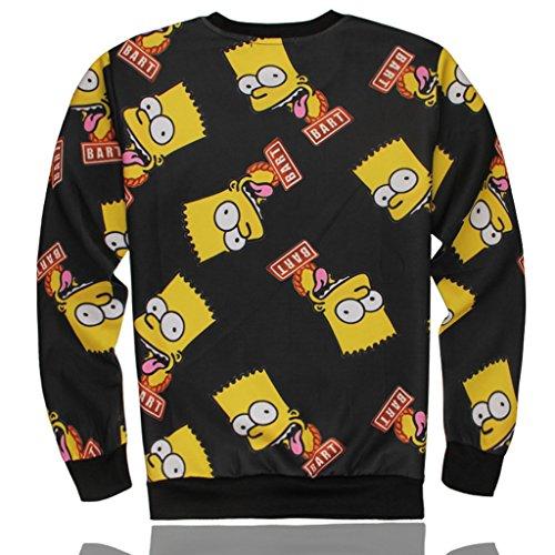 Better Vie Unisex Long Sleeves Shirt Hoodie Long Sleeves Shirt Simpson 3D Printed S