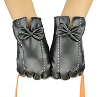 D.King Womens Touchscreen Winter PU Faux Leather Gloves Driving Outdoor Warm Lining