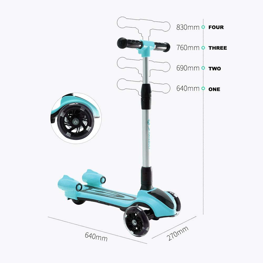 Amazon.com: Patinete de patinaje para niños, patinete de 3 ...