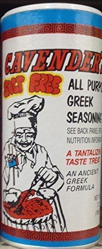 Cavenders SALT FREE GREEK SEASONING 7oz. (Pack of 2) by Cavender's