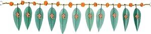 Devika: Asopalav Mango Leaf with Ganesha N Marigold,NOVEL GIFT IDEA Decorate your door Gift a Toran decor Toran Door Valance Home Decorations Gift packing T6