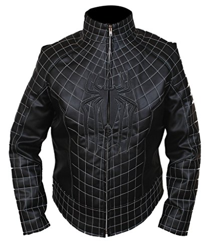 F&H Men's Amazing Spiderman Jacket XL Black (Mens Black Spiderman Costume)