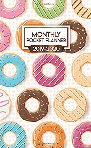 Amazon.com: 2019-2020 Monthly Pocket Planner: Cute Donut ...