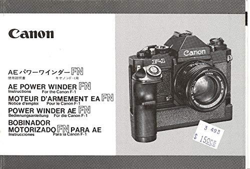 Canon AE Power Winder FN Original Instruction ()