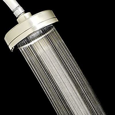 "Filtered Shower Head, Reduces Chlorine and Dissolved Solids, All Metal Design, Helps Hair and Skin Dryness, Over-Sized 4.5"" Spray Plate, Spa Like Water Pressure"