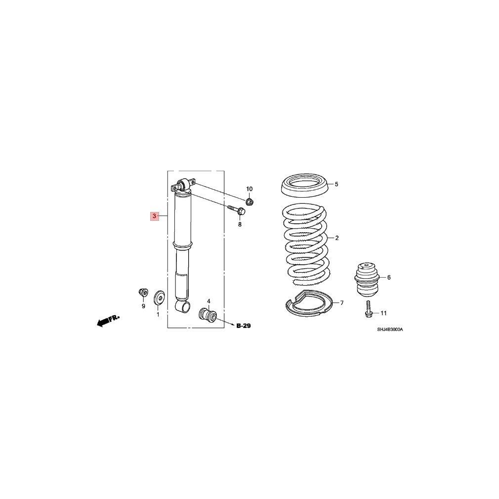Genuine Honda 52610 Shj L01 Shock Absorber Assembly Odyssey Suspension Diagram Rear Automotive