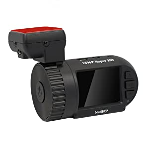 Mini 0805P Dash Cam Camera with Capacitor, GPS, G-Sensor, FHD 1296P, Night Vision, Motion Detection, OverTemperature Protection Upgrade 0805 Mini0805P Micro USB Port