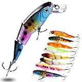 Sougayilang Fishing Lures Wobbler Fish Topwater Lure Swimbait Crankbait Minnow Artificial Bait With Hooks Carp Pike Bass Fishing Tackle Tool