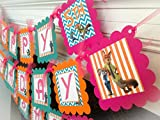 PARTY PACK SPECIAL - Zootopia Inspired Happy Birthday Collection - Orange Stripes, Teal Chevron & Hot Pink Accents - Party Packs Available