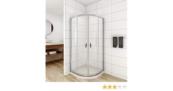 Cabina de ducha viertelkreis 90 x 90 x 190 cm redondo ducha ...
