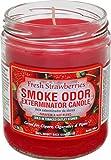 Smoke Odor Exterminator Candle Fresh Strawberries 13 oz