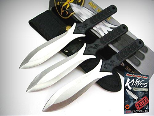 - RITE EDGE Triple Pro TARGET THROWING Knives 3 Piece Knife Set + Sheath NEW! + free eBook by ProTactical'US