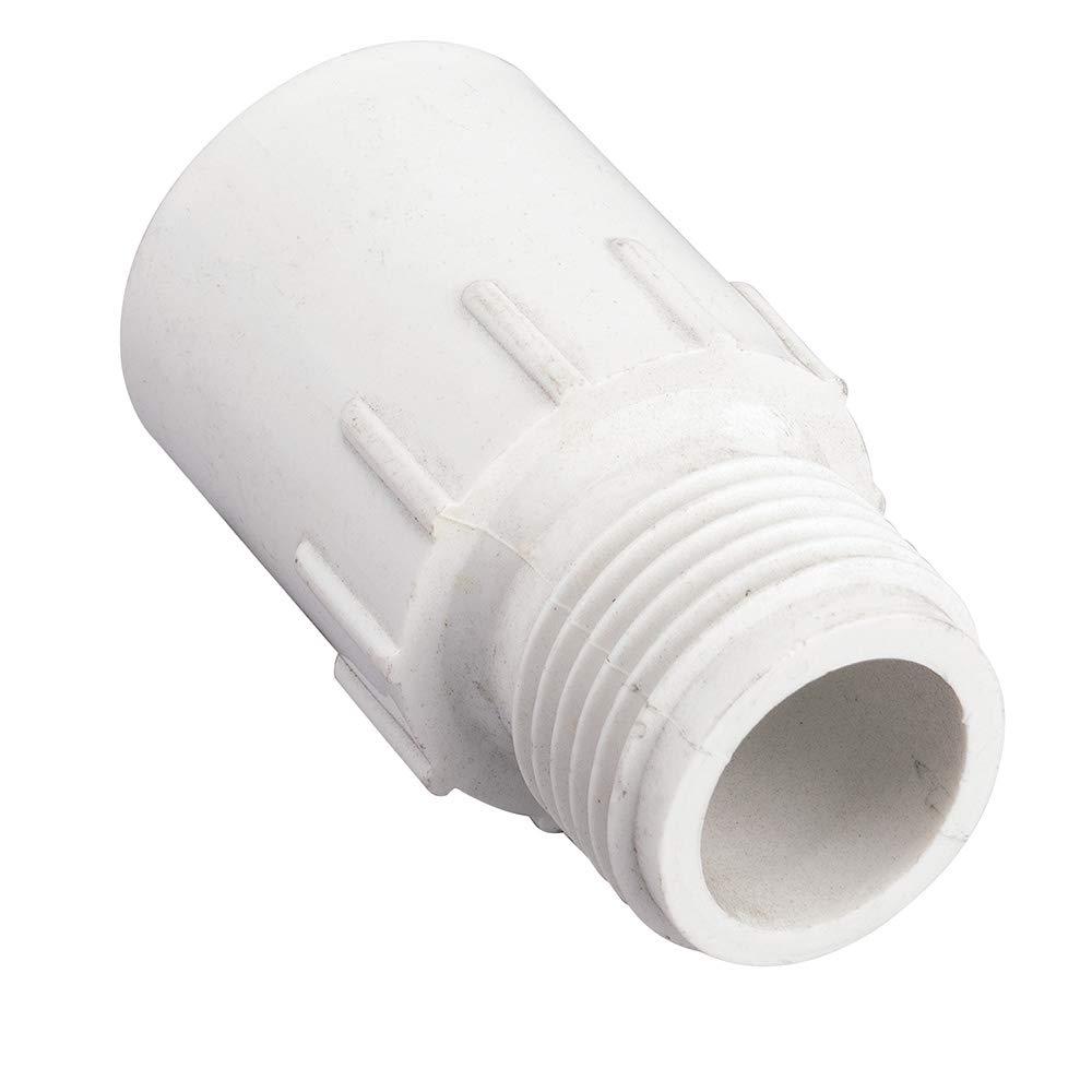 5 Pack - Orbit 3/4 Inch Slip x MHT PVC Hose-to-Pipe Sprinkler Fitting