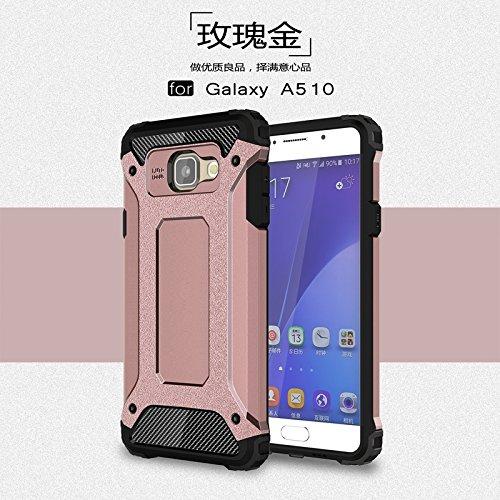 Tough Hybrid Dual Layer Case for Samsung Galaxy A510 A5 2016 (Gold) - 6