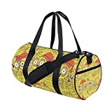 AURELIOR Cute Owls Gym Duffle Bag Drum tote Fitness Shoulder Handbag Messenger Bags