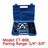 uxcell® CT-808 45 Degree Eccentric Cone Type Tube Flaring Tools Set