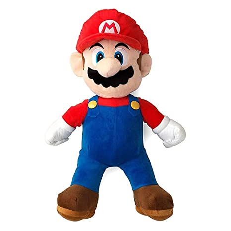 Amazon.com  Super Mario Bros Standing Mario Plush Soft Toy Stuffed Animal  Gift Figure 16inch  Toys   Games af46cf46f