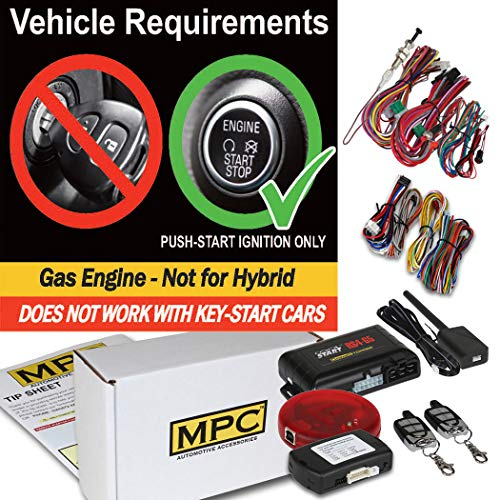 MPC 5-Button Extended Range Remote Start Keyless Entry Kit for 2014-2017 Honda Odyssey - Includes Programmer (Remote Start Honda Odyssey 2015)