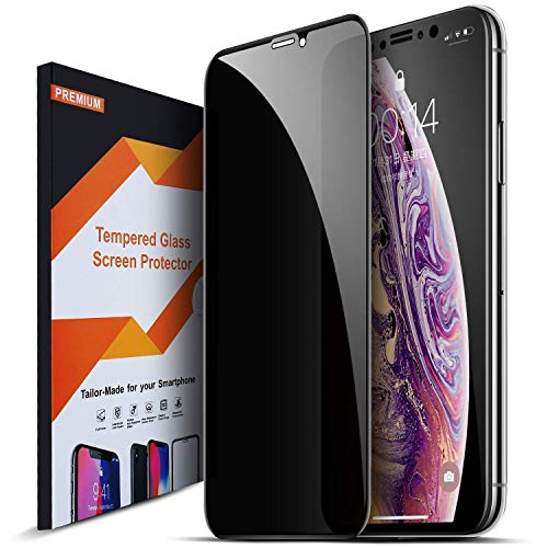 Intermerge Privacy Screen Protector for iPhone Xs Max, Premium 4D Curved Edge to Edge Full Coverage Anti-Spy Tempered Glass Screen Protector for Apple iPhone Xs Max 2018, 6.5inch