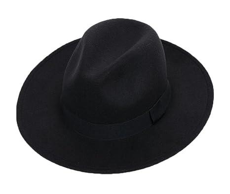 2acb6be8f East Majik Wide Brim Elegant Homburg Hat - Black