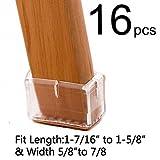 Bar Stool Leg Caps LimBridge Chair Leg Wood Floor Protectors, Chair Feet Glides Furniture Carpet Saver, Silicone Caps with Felt Pads #15, Length 1-7/16