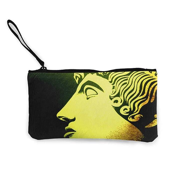Amazon.com: Bolso de mano con monedas, bolso de lona impreso ...