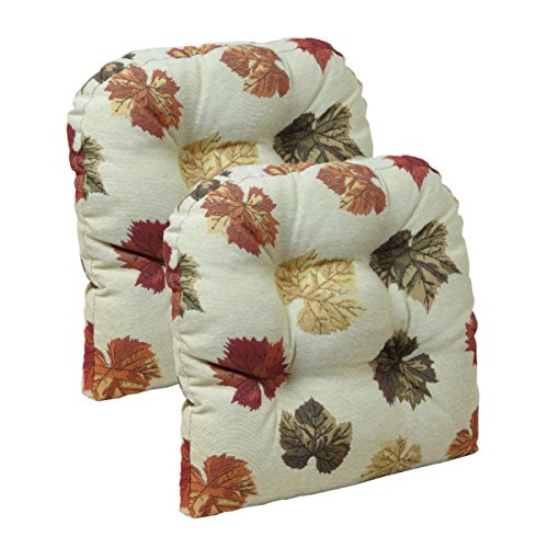 Folding Chair Seat Pad - Klear Vu Falling Dining Chair Pads, Leaves