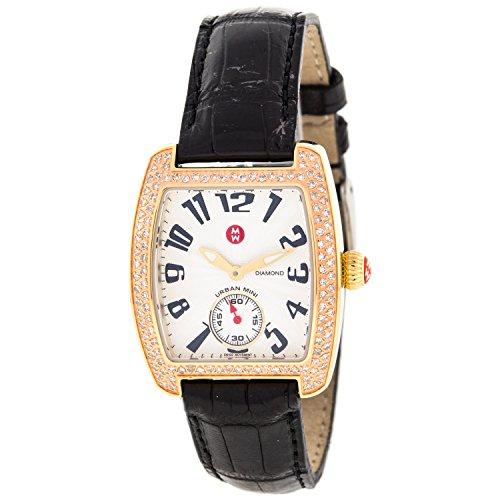 Michele Urban Mini MW02A01G9001 Black Strap Diamond Quartz Swiss Ladies Watch