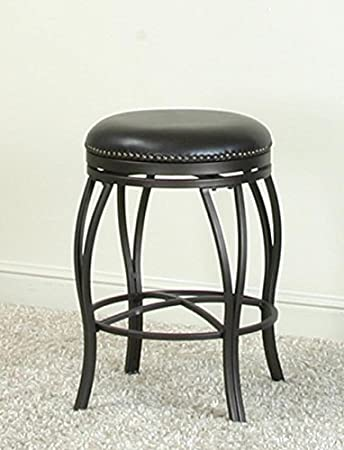 Amazon Com Traditional Backless Swivel Bar Stool In Oil Rubbed
