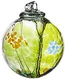 Kitras Art Glass Decorative Spirit Ball, 6-Inch, Lime