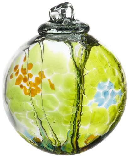 - Kitras Art Glass Decorative Spirit Ball, 6-Inch, Lime