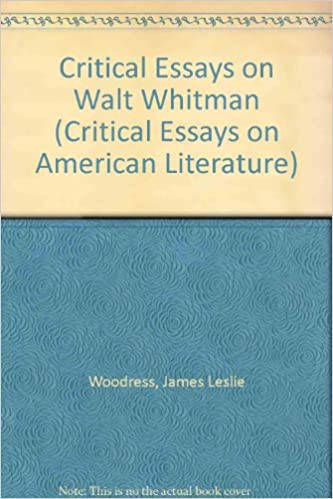 com critical essays on walt whitman critical essays on  critical essays on walt whitman critical essays on american literature large type edition edition