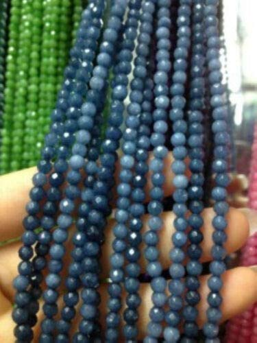 FidgetKute 4mm Faceted Natural Brazilian Aquamarine Gemstone Round Loose Beads 15