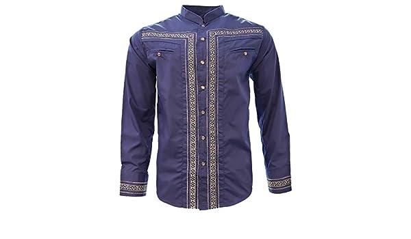 El General Camisa Charra M//Larga 65/% Polyester 35/% Cotton Royal Blue ID 34033 CW8N